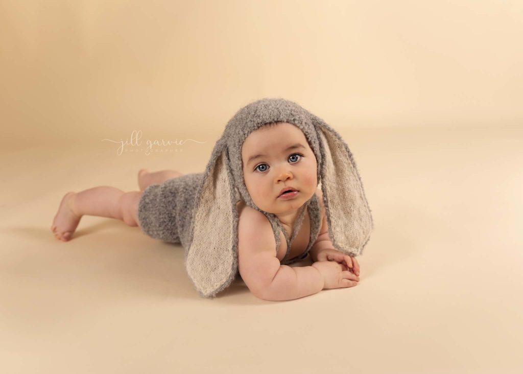 Photograph of Baby at 6 - 9 months old taken at Jill Garvie Photography studio in Edinburgh