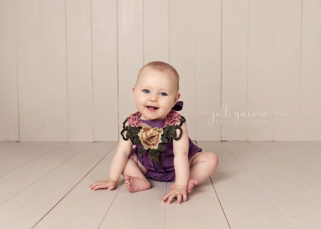 Photograph of Baby girl 6 - 9 months old taken at Jill Garvie Photography studio in Edinburgh