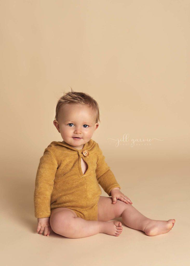Photograph of 8 month old Baby boy taken at Jill Garvie Photography studio in Edinburgh