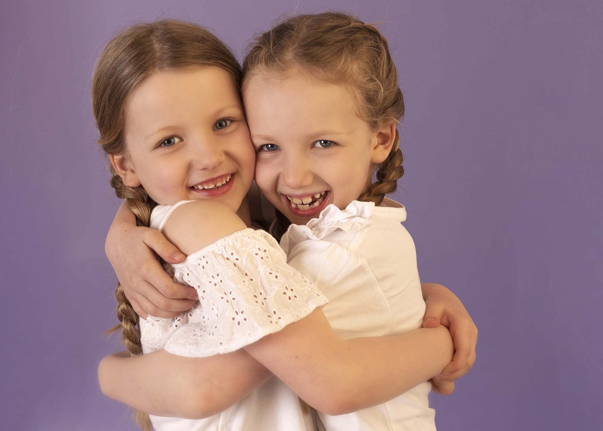 Photograph of children at Photoshoot in Edinburgh studio