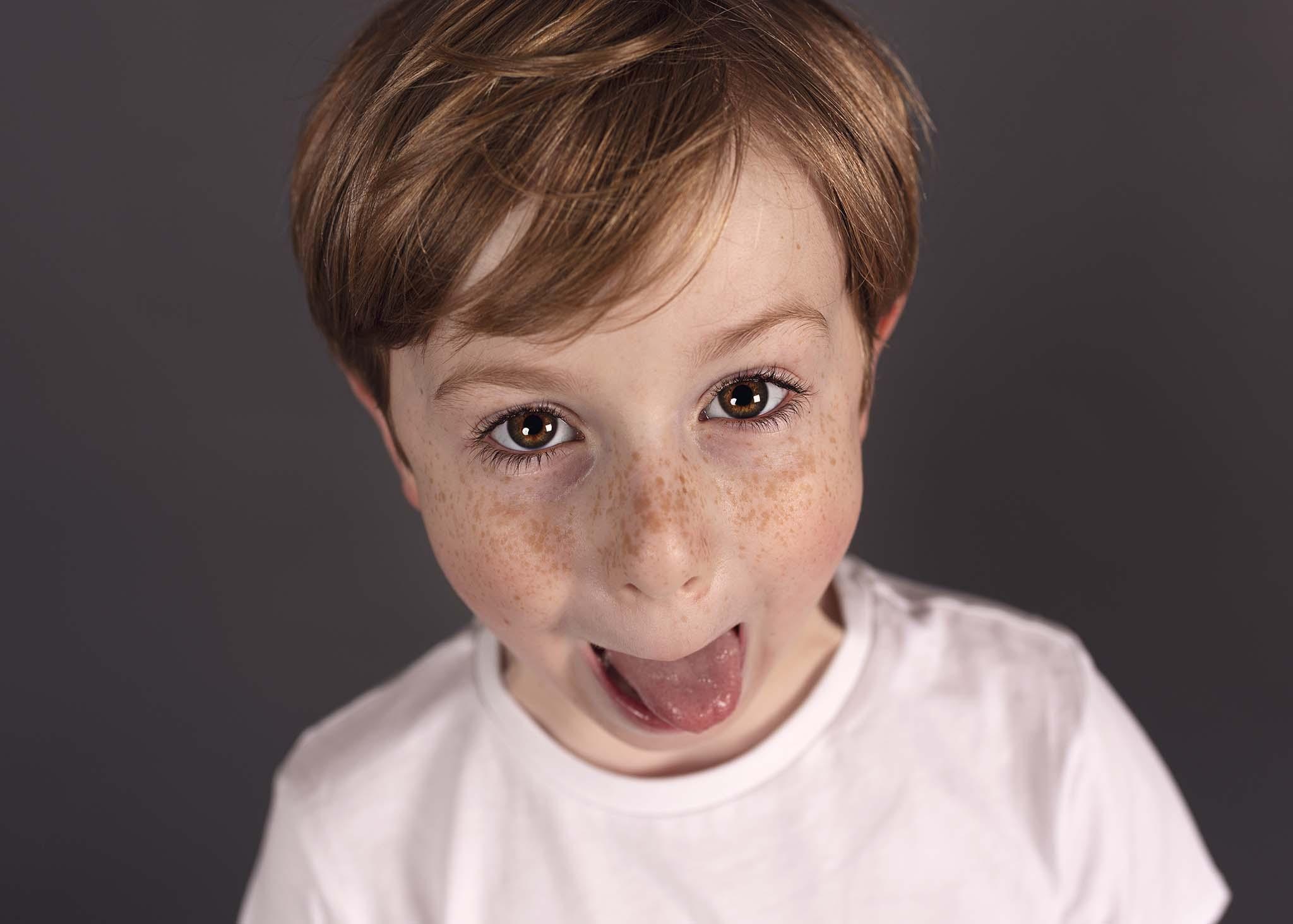 Photograph of children at Photoshoot in Edinburgh studio