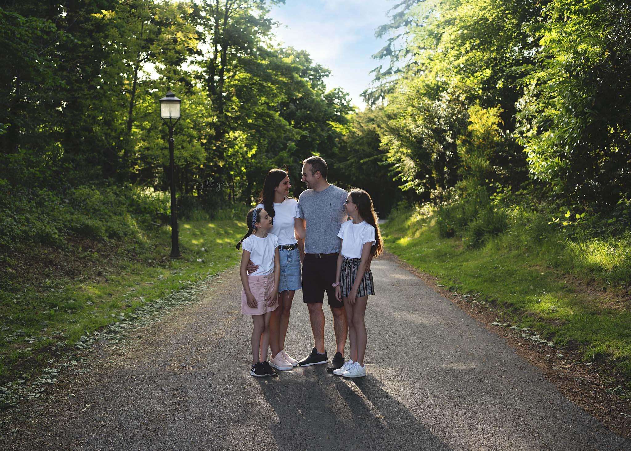 Photograph of family taken in Edinburgh near Musselburgh